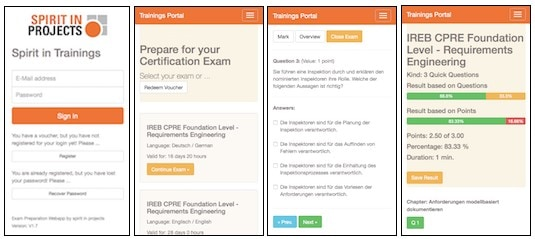 Web-App zur Lern- und Prüfungsvorbereitung